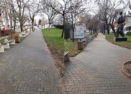 Zgjohet nga gjumi komuna, pastrohet parku i qytetit