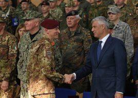 Thaçi në ndërrimin e komandës së KFOR-it: Kosova aspiron të jetë anëtare e NATO-s dhe të kontribuojë për paqen në botë