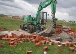 Gjilani rrënon edhe një objekt që po ndërtohej në pronën komunale