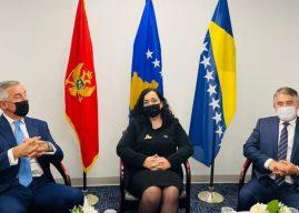 Osmani takim me presidentin e Malit të Zi dhe Bosnjës: Të shqetësuar për zhvillimet e fundit në rajon